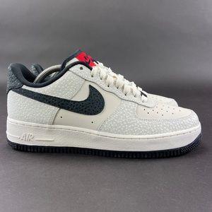 Nike By You Men Air Force 1 Low Safari Print Shoes